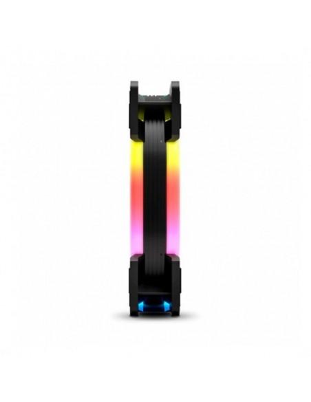 Ventilador Nox Hummer S-FAN 12 A-RGB Rainbow Doble Anillo