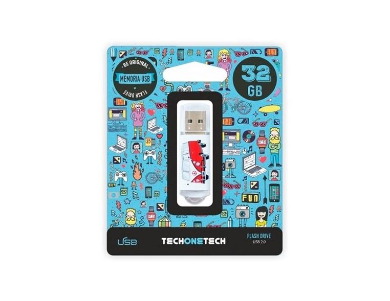 PENDRIVE 32GB TECH ONE TECH CAMPER VAN-VAN USB 2.0/METAL TEC4004-32