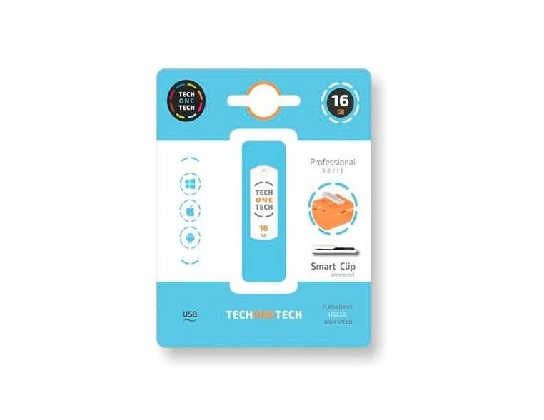 Memoria USB 16 GB Tech One Tech Smart Clip