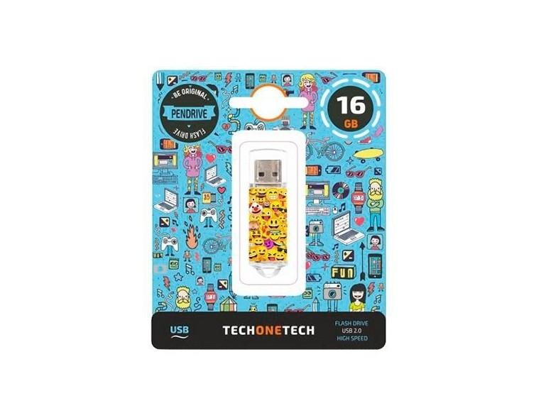 Memoria USB 16 GB Tech One Tech Emoji
