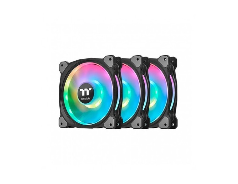 VENT 140X140 THERMALTAKE RIING DUO 14 RGB TT P3UDS PACK 3 UNDS/VENT 140X140MM RGB/1400 RPM CL-F078-PL14SW-A