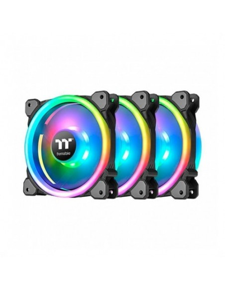 VENT 140X140 THERMALTAKE RIING TRIO 14 RGB TT 3UDS PACK 3 UNDS/VENT 140X140MM RGB/1400 RPM CL-F077-PL14SW-A