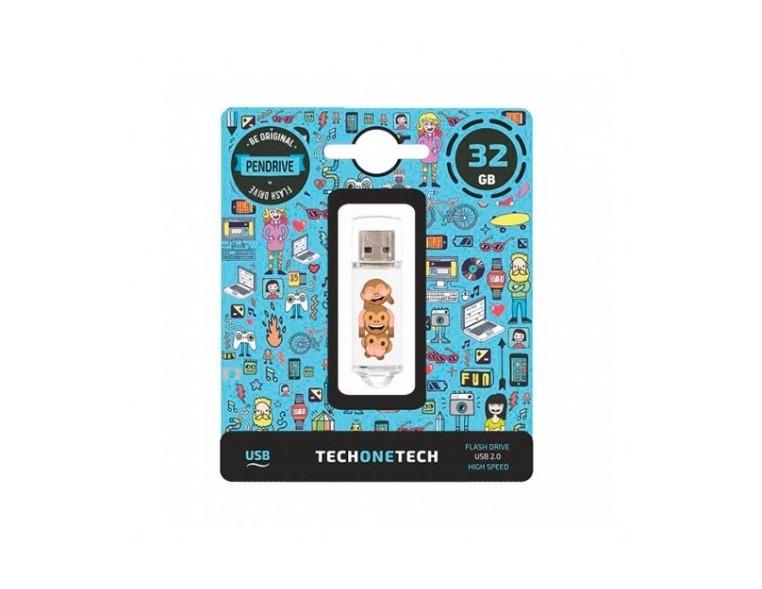 PENDRIVE 32GB TECH ONE TECH NO EVIL MONKEY TEC4503-32