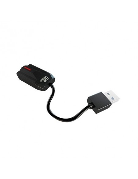 TARJETA DE SONIDO KEEP OUT 7.1 USB USB/IN MICRO, OUT AUDIO JACK 3.5/PC/PS3/PS4 HXADAP