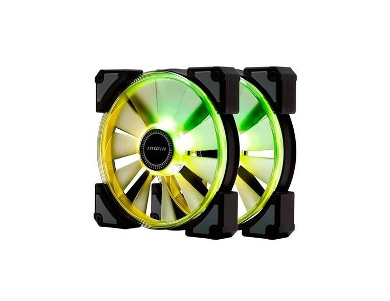 VENT 140X140 IN WIN CROWN ARGB PACK 2UD DISEÑO CONECTORES MODULARES/CONTROLADORA ARGB CROWN 14CM X 2