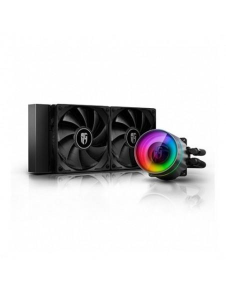 VEN CPU REF. LIQUIDA DEEPCOOL CASTLE 280EX ARGB 2 VEN 140MM/INTEL-AMD/BLOQUE ARGB DP-GS-H14AR-CSL280EX