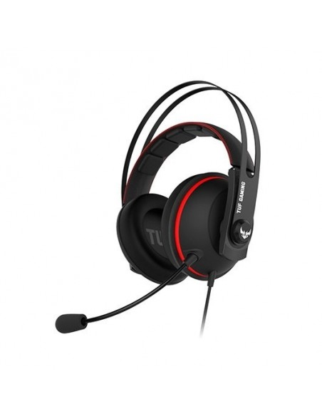 AURICULARES ASUS TUF GAMING H7 CORE RED 50MM/JACK 3.5MM+SPLITTER CONSOLA/MICRO EXTRAIBLE 90YH01QR-B1UA00