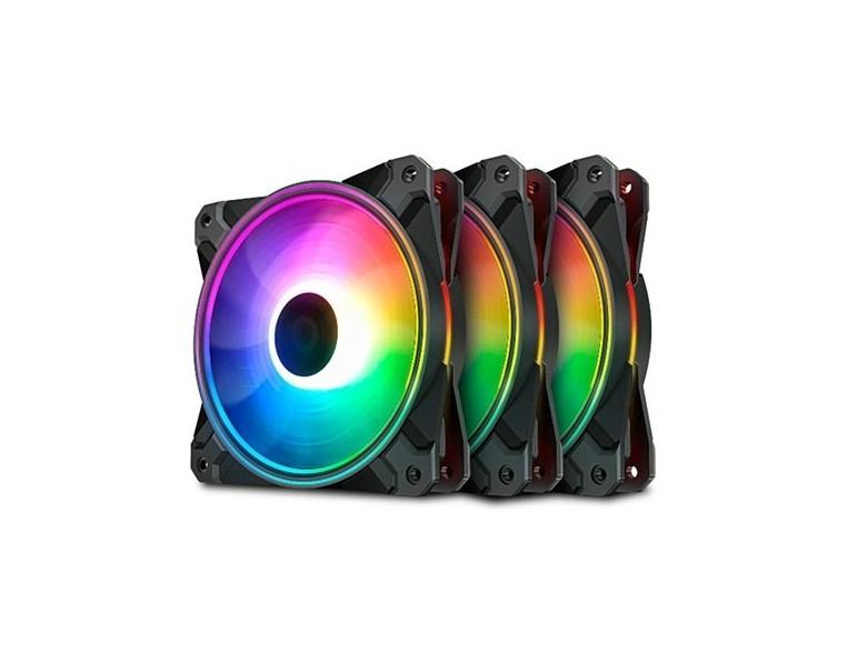 Ventilador Deepcool CF120 Plus A-RGB Pack de 3