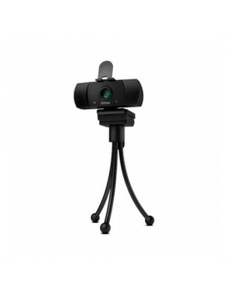 Webcam Krom Kam 1080p FullHD Micrófono incorporado y Trípode