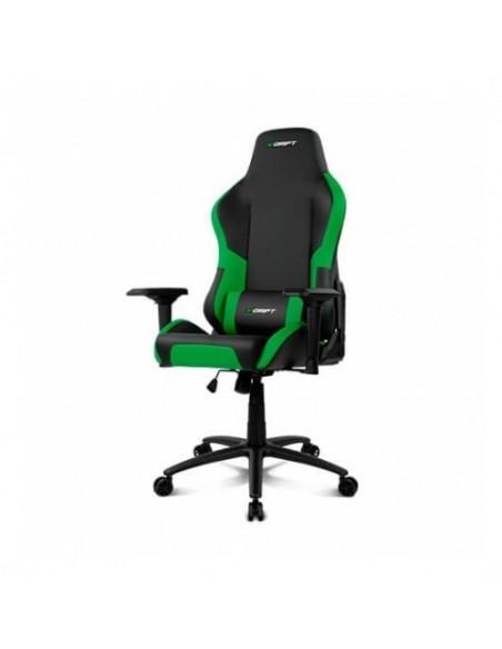 Silla Gaming Drif DR250G Verde Incluye Cojín Lumbar