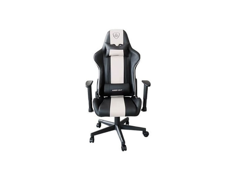 SILLA GAMING KEEP OUT RACING PRO WHITE