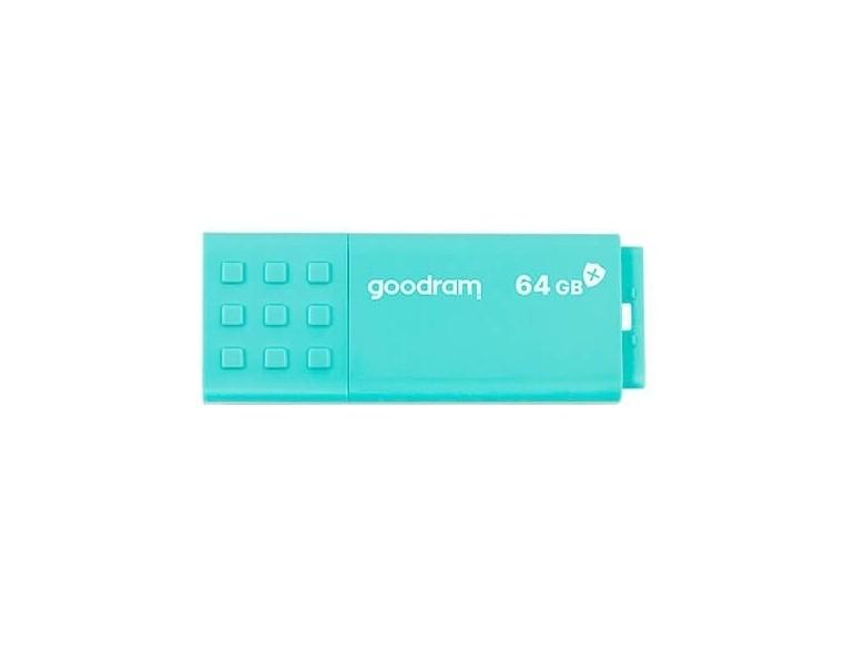 PENDRIVE 64GB USB3.0 GOODRAM UME3 CARE TURQUESA