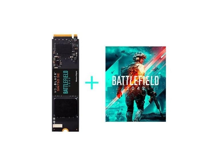 DISCO DURO M2 SSD 500GB PCIE4 WD BLACK SN750 SE+BF 2042